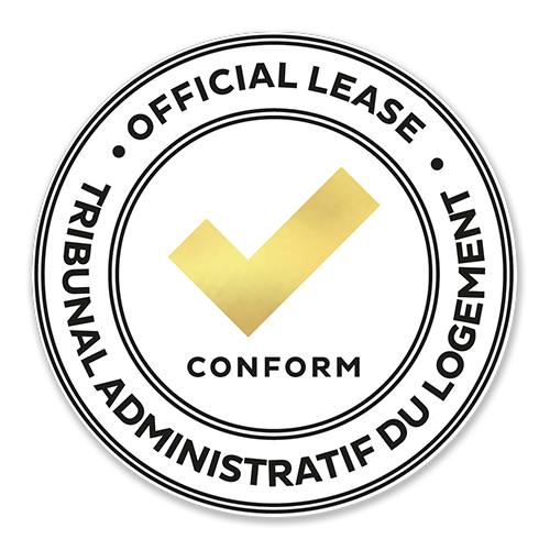 The CORPIQ electronic lease complies with the regulations of the Tribunal administratif du logement